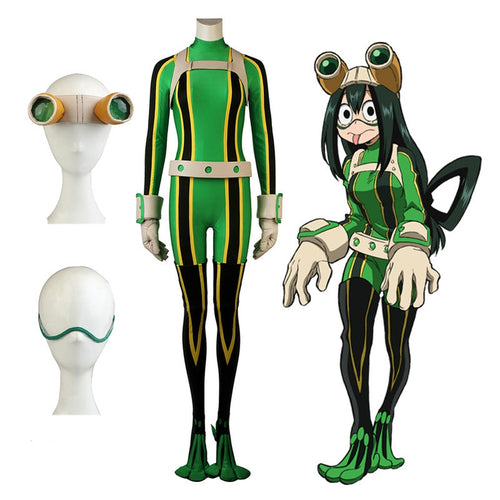 Anime My Hero Academia Tsuyu Asui Frog Combat Outfit Cosplay Costume - Cosplay Clans