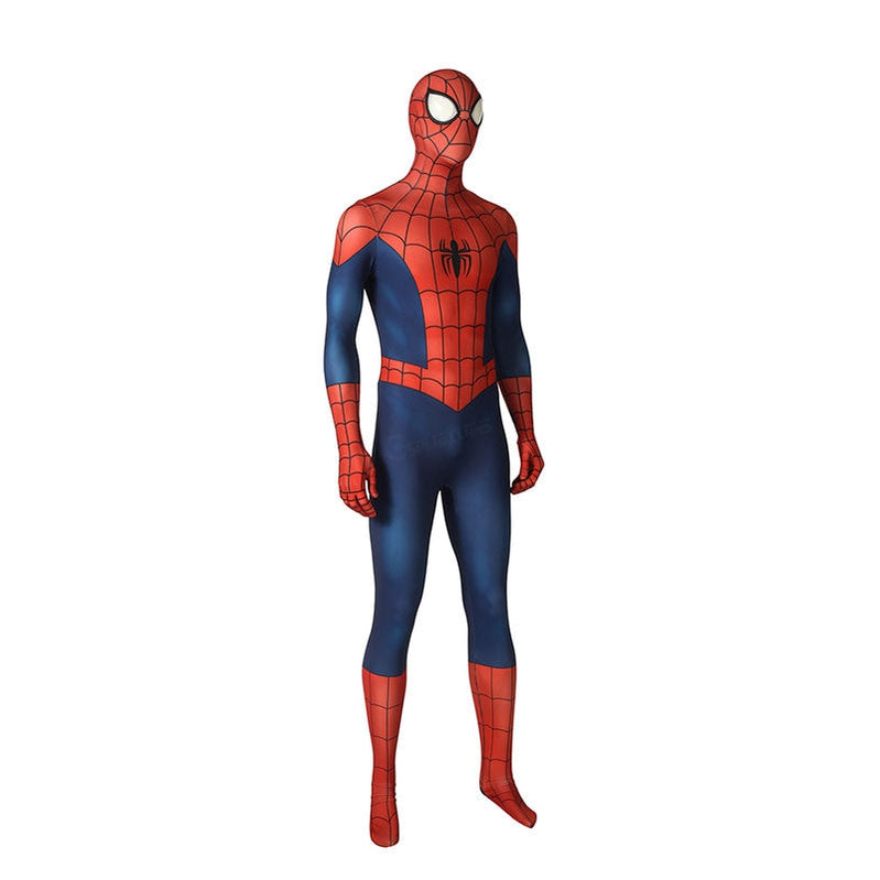 Ultimate Spider-Man Season1 Peter Parker Spiderman Elastic Force Jumpsuit Cosplay Costume - Cosplay Clans