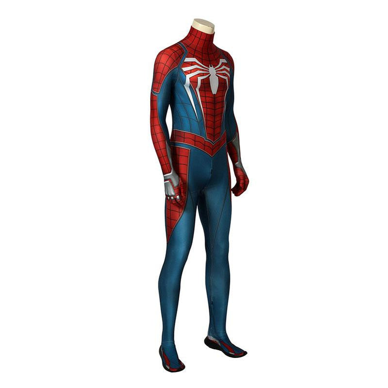 Spider-Man PS4 Peter Parker Spiderman Jumpsuit Cosplay Costume with Headgear and Sole - Cosplay Clans