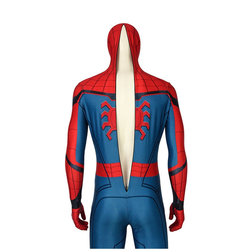Movie Spider-Man: Far From Home Peter Parker Spiderman Jumpsuit Cosplay Costume with Free Headgear - Cosplay Clans