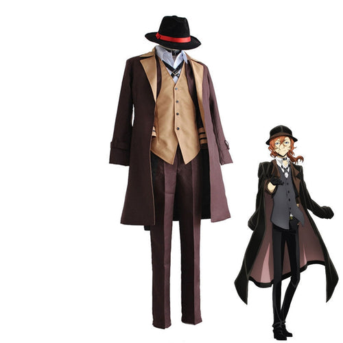 Anime Bungo Stray Dogs Chūya Nakahara Cosplay Halloween Costume - Cosplay Clans