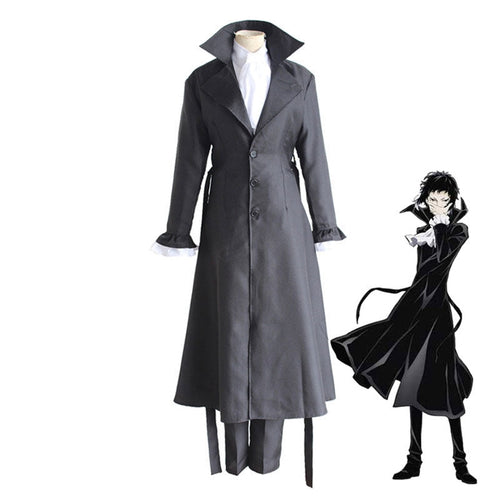 Anime Bungo Stray Dogs Ryunosuke Akutagawa Cosplay Halloween Costume - Cosplay Clans