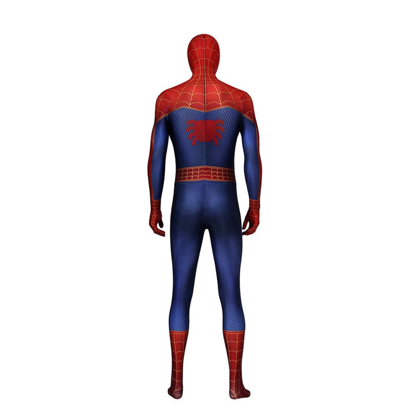 Movie Spider-Man: Into the Spider-Vers Peter Parker Spiderman Jumpsuit Elastic Force Cosplay Costume with Headgear - Cosplay Clans