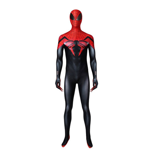 Superior Spider Man Peter Parker Spiderman Elastic Force Cosplay Costume Jumpsuit with Headgear - Cosplay Clans