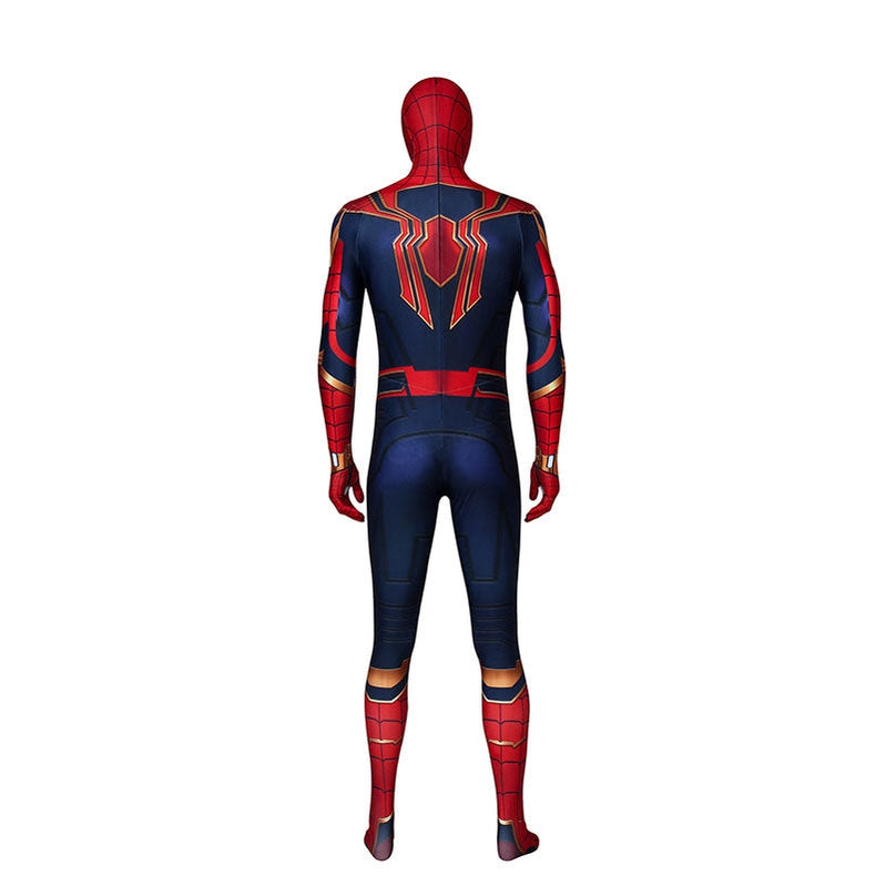Movie Spider-Man: Far From Home Peter Parker Spiderman Jumpsuit Elastic Force Cosplay Costume with Headgear - Cosplay Clans