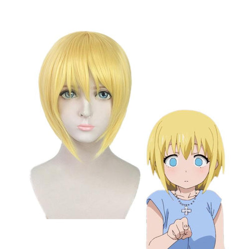 Anime Fire Force Iris Short Blond Cosplay Wigs - Cosplay Clans