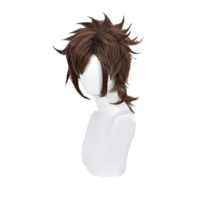Anime JoJo's Bizarre Adventure Battle Tendency Joseph Joestar Short Brown Cosplay Wigs - Cosplay Clans