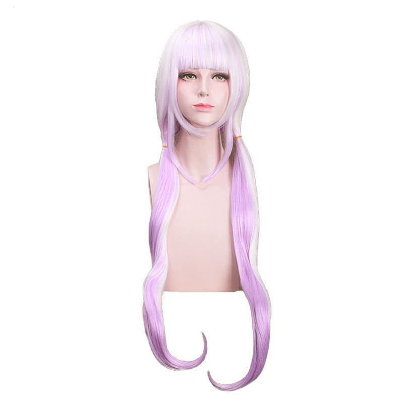 Anime Miss Kobayashi's Dragon Maid Kanna Kamui Long Mixed Purple Cosplay Wigs with Free Dragon Horn Headdress - Cosplay Clans