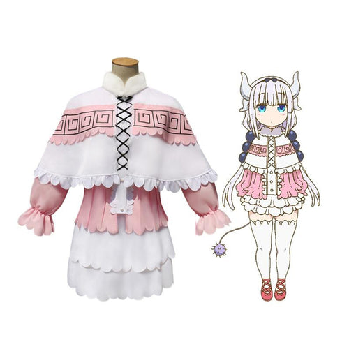 Anime Miss Kobayashi's Dragon Maid Kanna Kamui Dress Cosplay Costume - Cosplay Clans