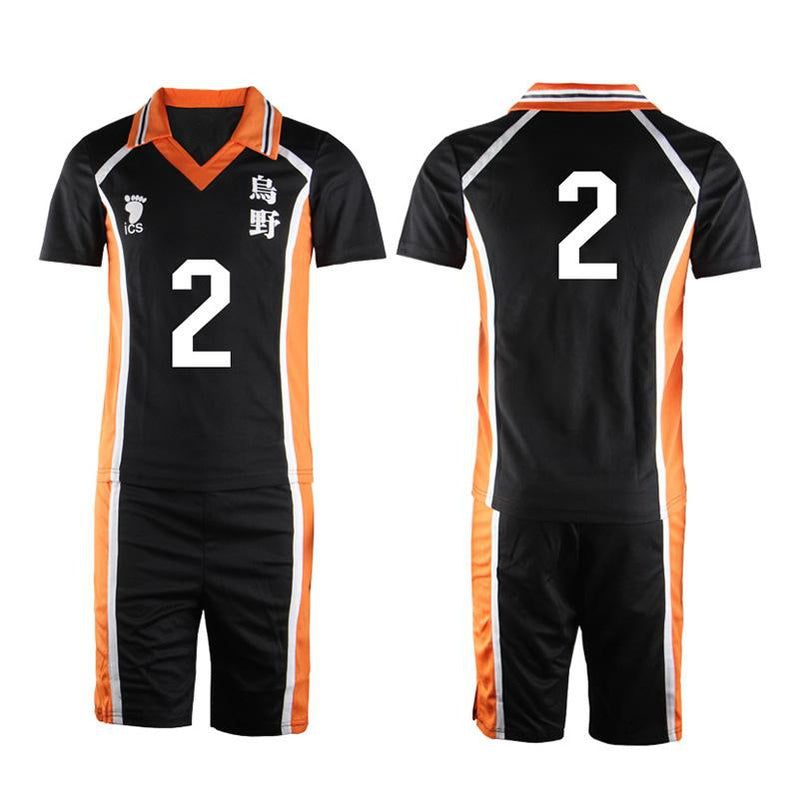 Anime Haikyuu Karasuno High School Volleyball Club Hinata Shoyo and All Teammates Uniform Cosplay Costume - Cosplay Clans