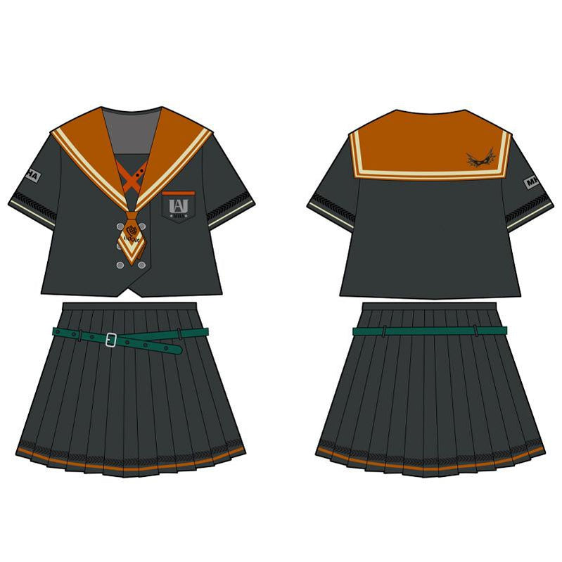 Anime My Hero Academia Female Katsuki Bakugo JK Uniform Cosplay Costume - Cosplay Clans