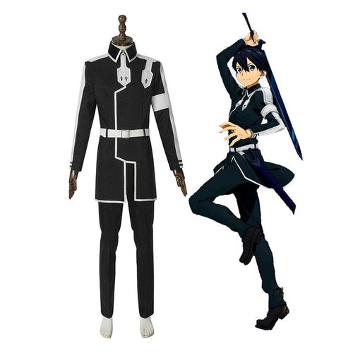 Anime Sword Art Online Alicization Under World Kirigaya Kazuto Kirito Cosplay Costume - Cosplay Clans