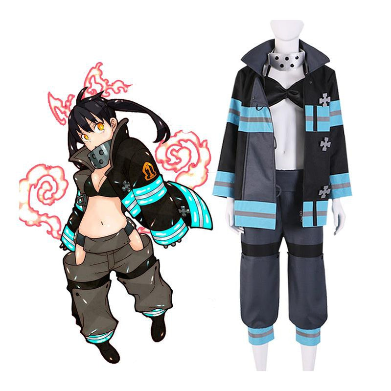 Anime Fire Force Kotatsu Tamaki Fire Suit Cosplay Costume - Cosplay Clans