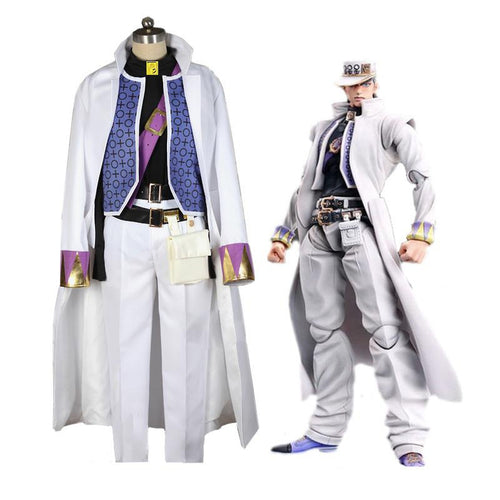Anime JoJo's Bizarre Adventure Diamond is Unbreakable Kujo Jotaro Cosplay Costume - Cosplay Clans