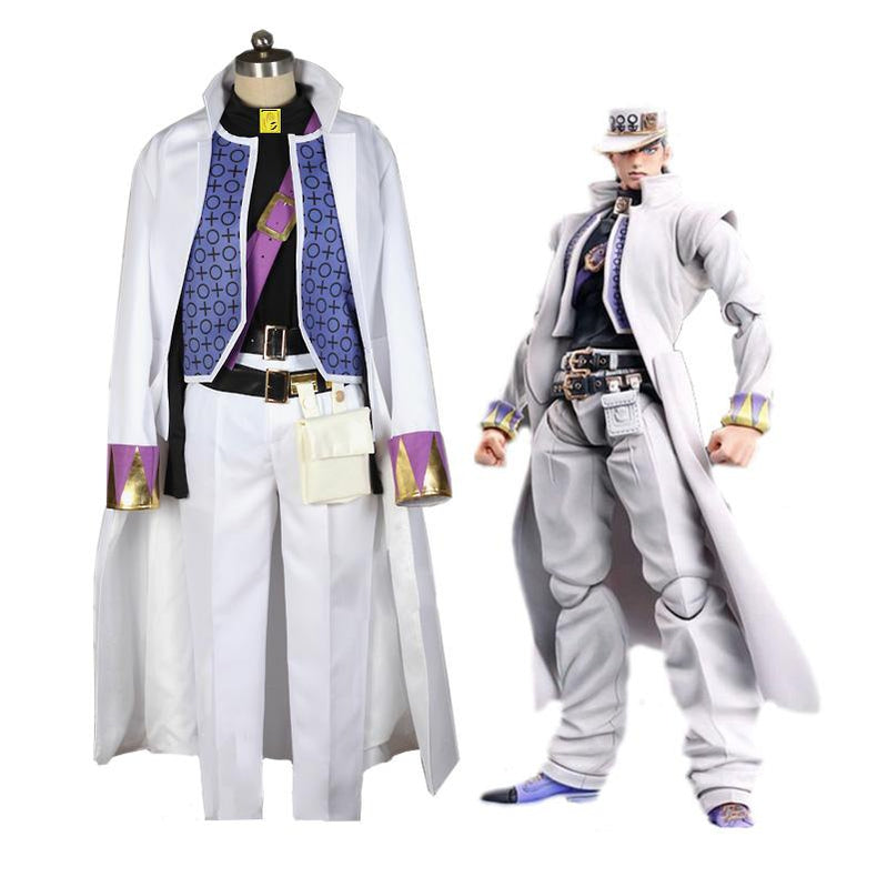 Anime JoJo's Bizarre Adventure Diamond is Unbreakable Kujo Jotaro Cosplay Costume with Hat - Cosplay Clans
