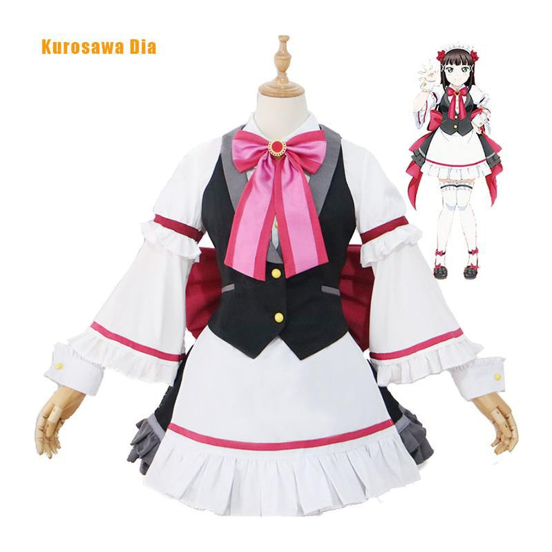 LoveLive!Sunshine!! Watanabe You and Aqours All Members Maid Uniform Cosplay Costume - Cosplay Clans