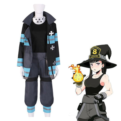 Anime Fire Force Maki Oze Fire Suit Cosplay Costume - Cosplay Clans