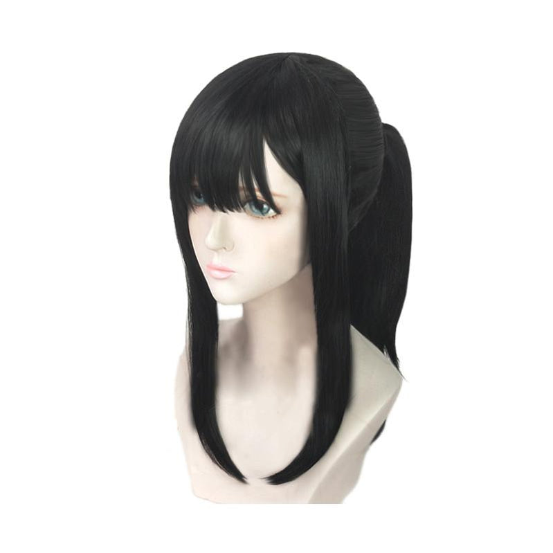 Anime Fire Force Maki Oze Long Black Cosplay Wigs - Cosplay Clans