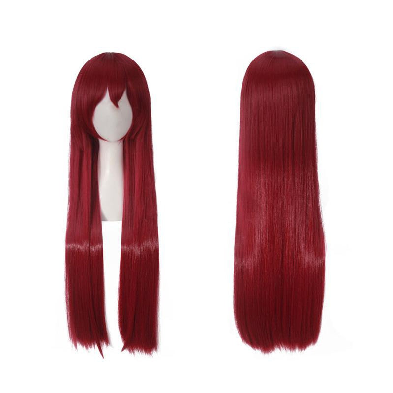 Anime Steins;Gate Makise Kurisu Long Wine Red Cosplay Wigs - Cosplay Clans