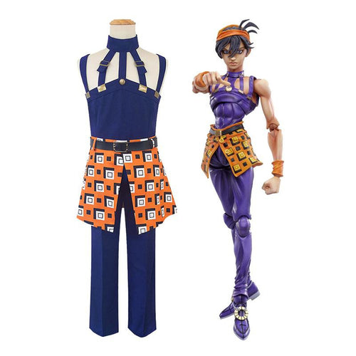 Anime JoJo's Bizarre Adventure Golden Wind Narancia Ghirga Cosplay Costume - Cosplay Clans