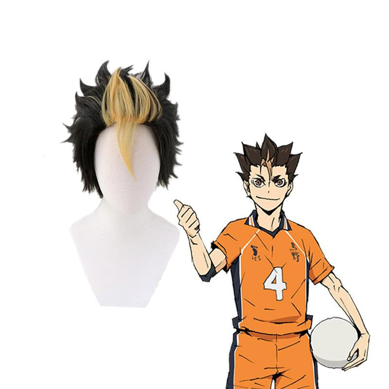 Anime Haikyuu Nishinoya Yuu Short Black Cosplay Wigs - Cosplay Clans