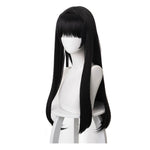Manga Citrus Mei Aihara Long Straight Black Cosplay Wigs