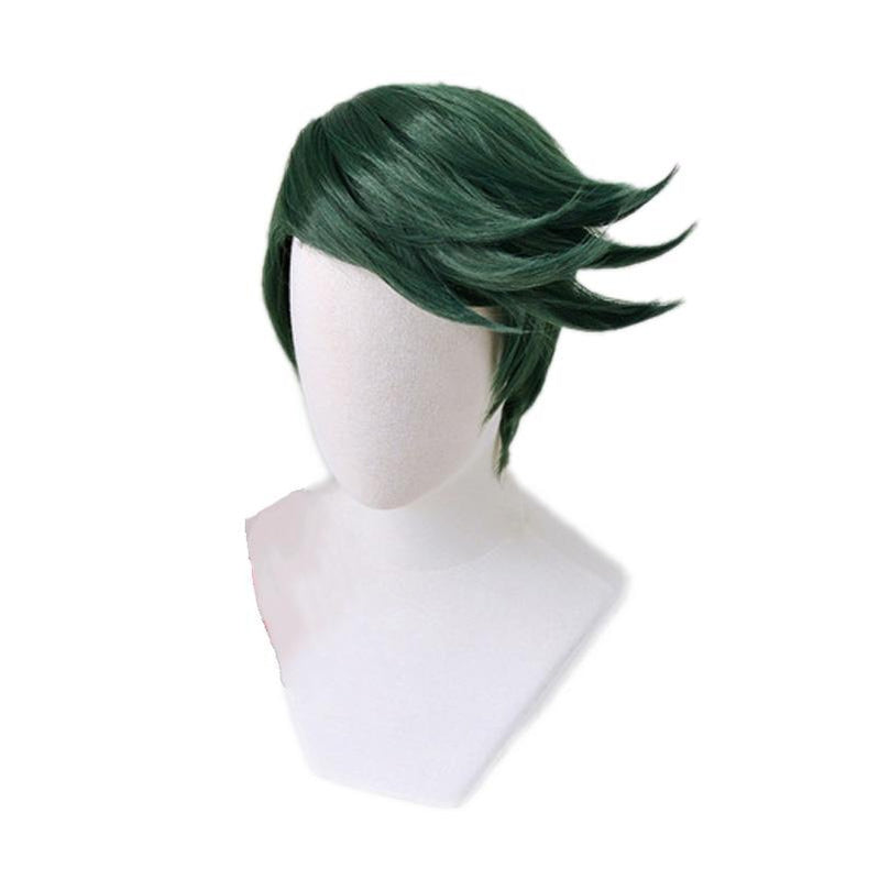 Anime JoJo's Bizarre Adventure Diamond is Unbreakable Rohan Kishibe Short Green Cosplay Wigs - Cosplay Clans