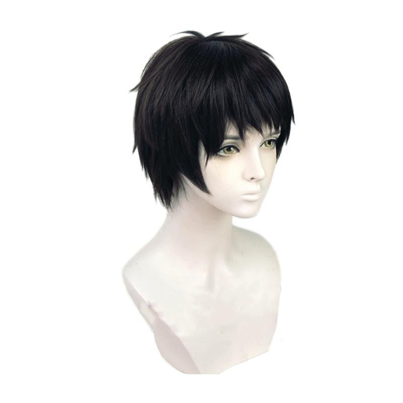 Anime Fire Force Shinra Kusakabe Short Black Cosplay Wigs - Cosplay Clans