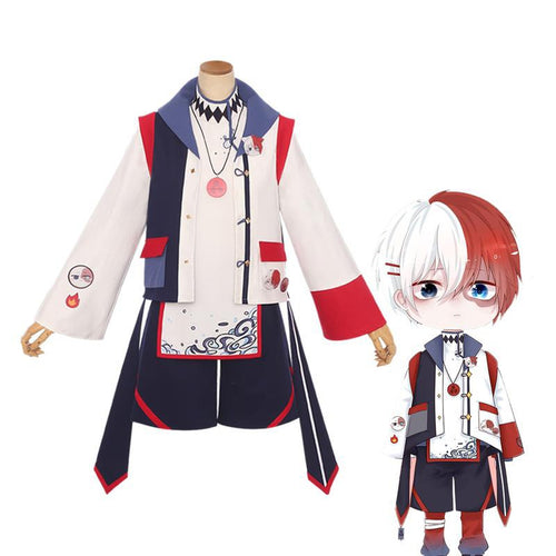 Anime My Hero Academia Shoto Todoroki Casual Clothes Cosplay Costumes - Cosplay Clans