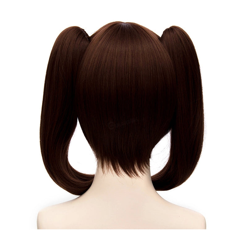 Anime The Seven Deadly Sins Diane Short Brown Double Ponytail Cosplay Wigs - Cosplay Clans