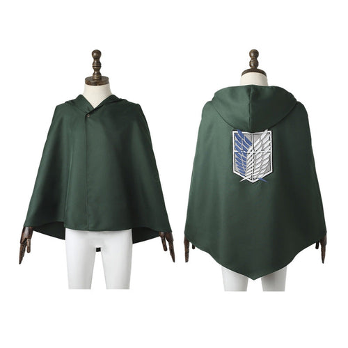 Anime Attack on Titan Eren Jaeger Mikasa Ackerman The Wings Of Freedom Survey Corps Cosplay Cloak - Cosplay Clans