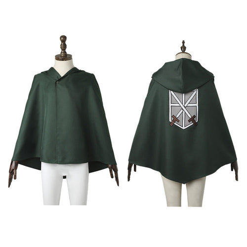 Anime Attack on Titan Eren Jaeger Mikasa Ackerman Training Corps Cosplay Cloak - Cosplay Clans