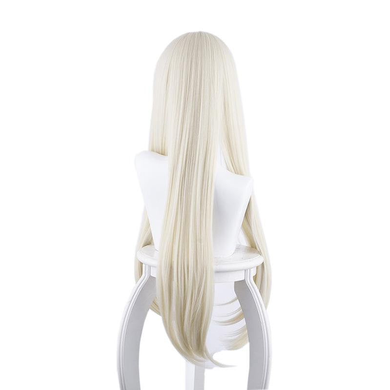 Anime Kakegurui Yomoduki Runa Long Straight Cream White Cosplay Wigs - Cosplay Clans