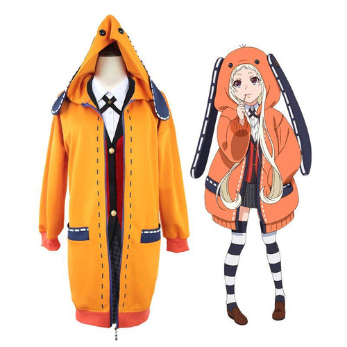 Anime Kakegurui Yomoduki Runa Coat Cosplay Costumes with Free Socks - Cosplay Clans