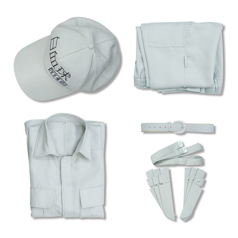 Anime Cells at Work White Blood Cell Uniform Cosplay Costume with Hat - Cosplay Clans
