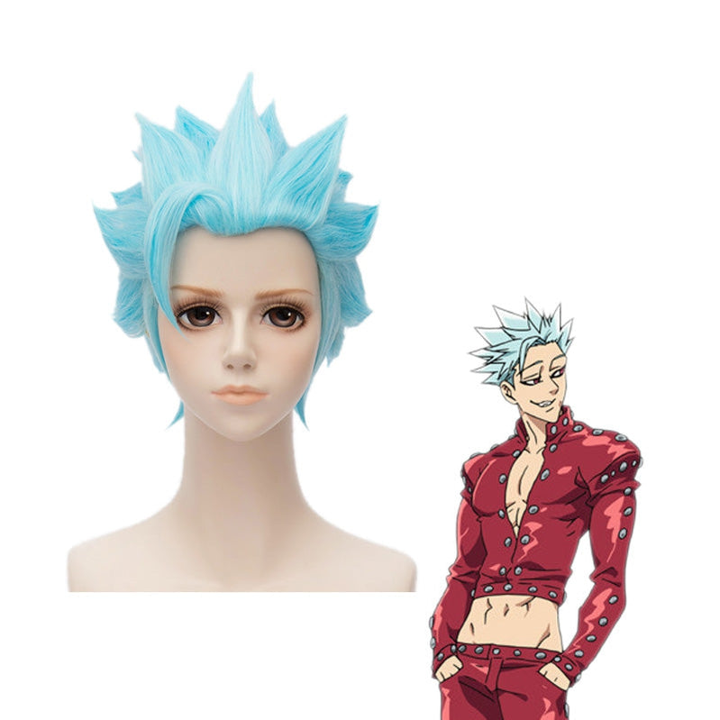 Anime The Seven Deadly Sins Ban Short Blue Cosplay Wigs - Cosplay Clans