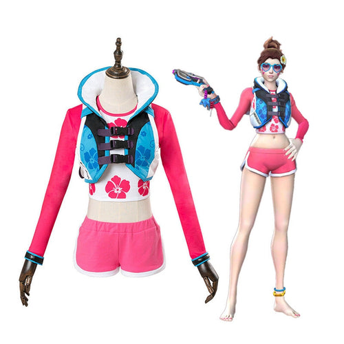 Game OW Overwatch D.Va Hana Song Waveracer Skin Cosplay Costumes - Cosplay Clans