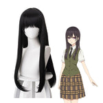 Anime Manga Citrus Mei Aihara Long Straight Black Cosplay Wigs