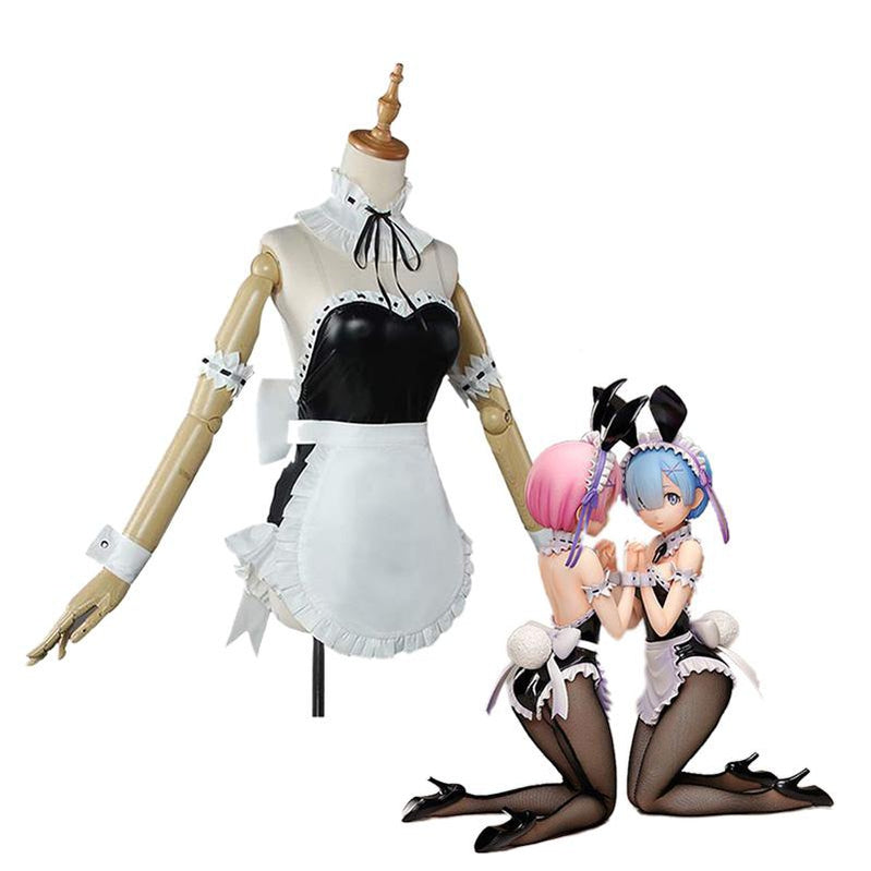 Anime Re:Zero Starting Life in Another World Rem and Ram Bunny Girl Cosplay Costume - Cosplay Clans