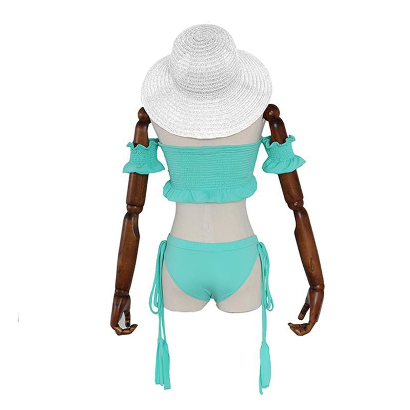 Anime Re:Zero Starting Life in Another World Rem Beach Swimsuit Cosplay Costume - Cosplay Clans