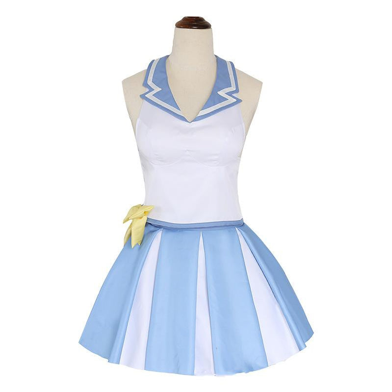 Anime Re:Zero Starting Life in Another World Rem Cheerleader Suit Cosplay Costume - Cosplay Clans