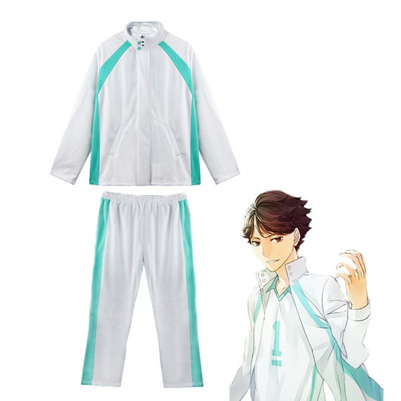Anime Haikyuu Aobajohsai High Jacket Uniform Oikawa Tooru Cosplay Costume - Cosplay Clans