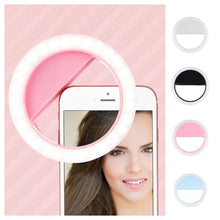 Load image into Gallery viewer, Combo Of High Quality Rechargeable Selfie Ring Light + Creative Cute Mini Compact Folding Umbrella