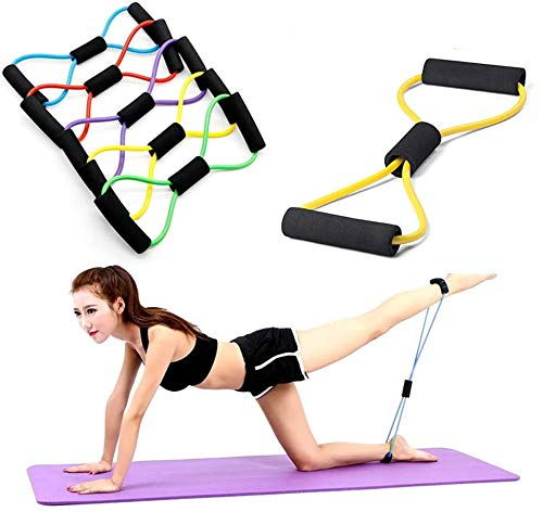 Buy 1 Get 1 Free The Dance Bible 8-Shaped Elastic Yoga Resistance, Home Gym, Pilates, Fitness Exercise