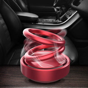Solar Energy Powered 360 Degree Rotating Double Ring Suspension Air Freshener Perfume Buy 1 Get 1 Free