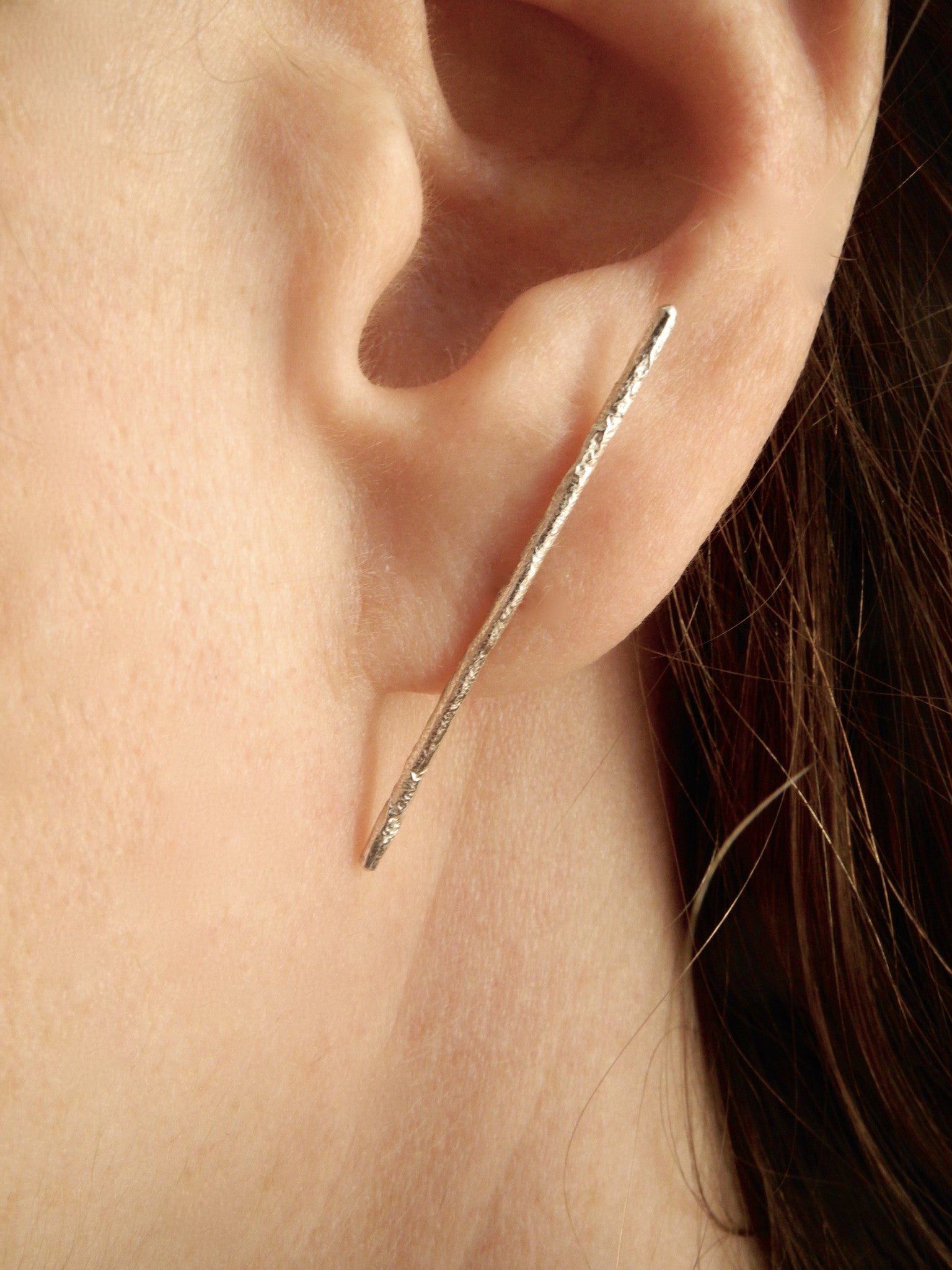 stick and stone stud earrings