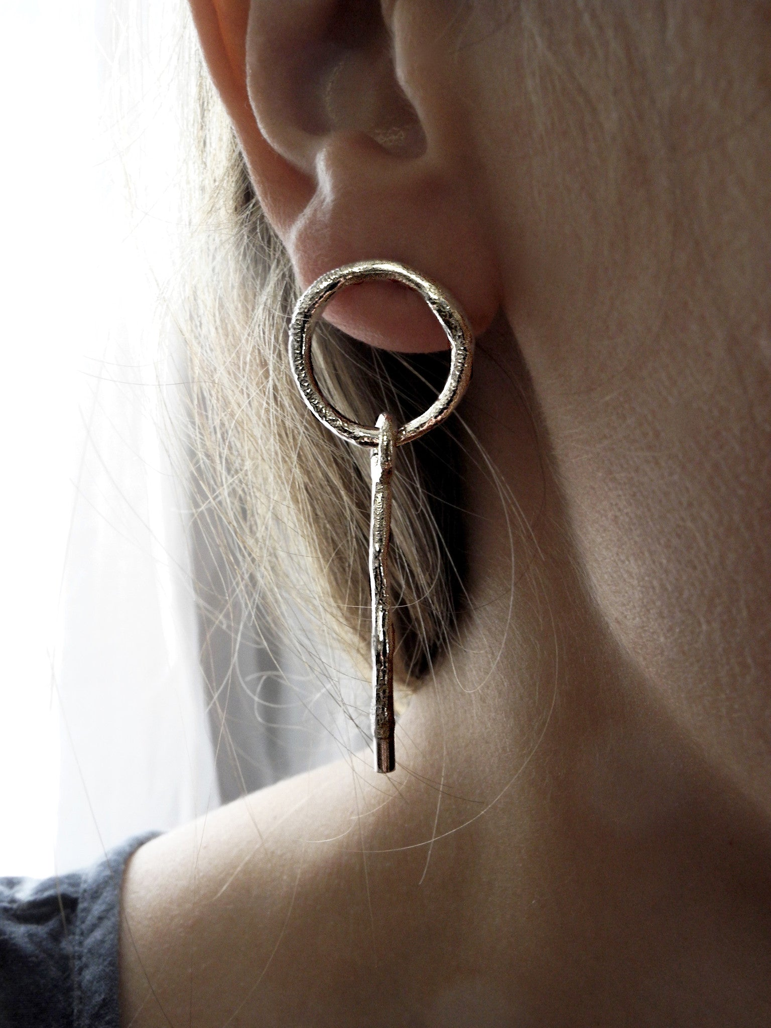 outer circle earrings