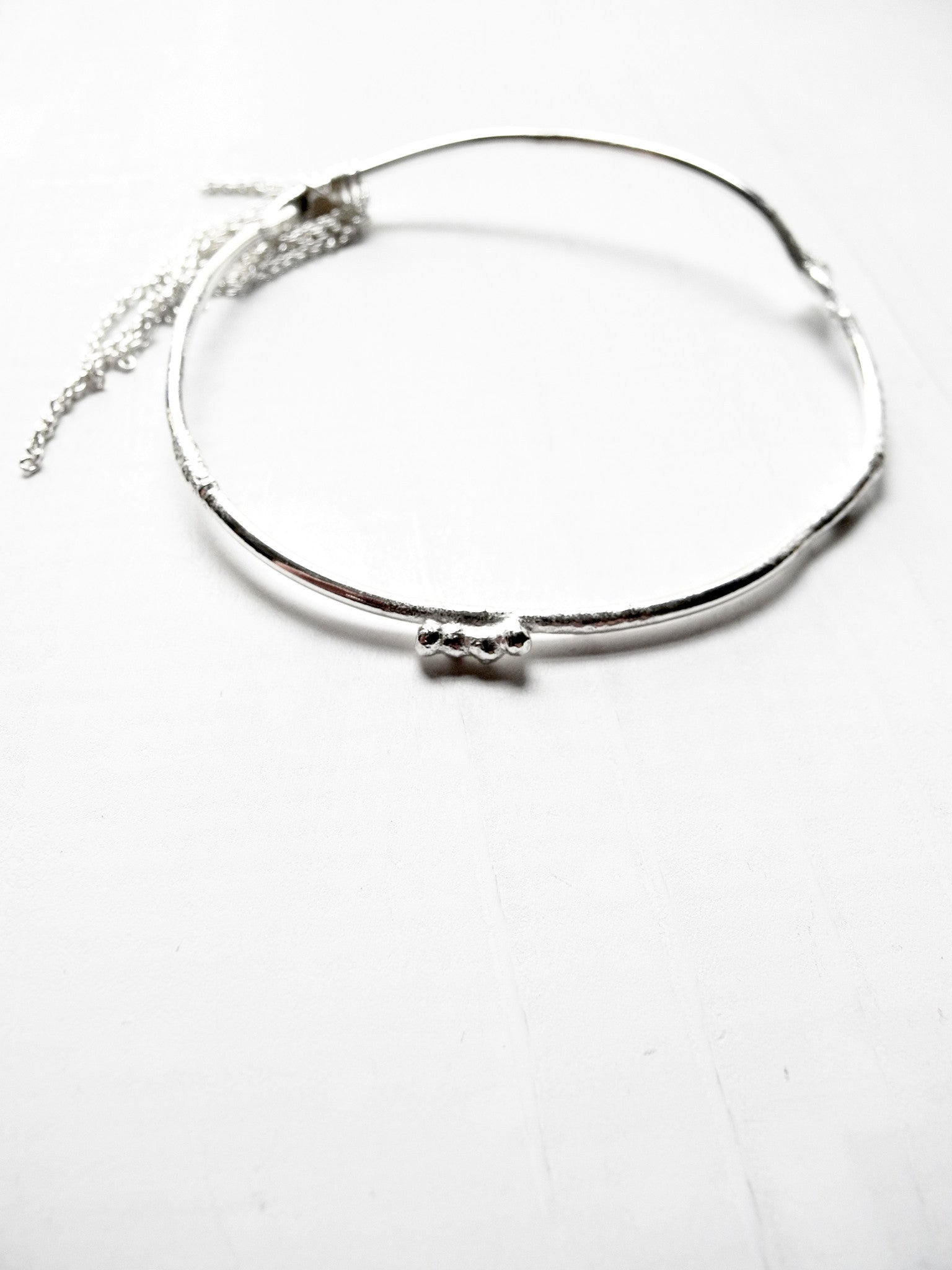 after nature bangle with chain fringe