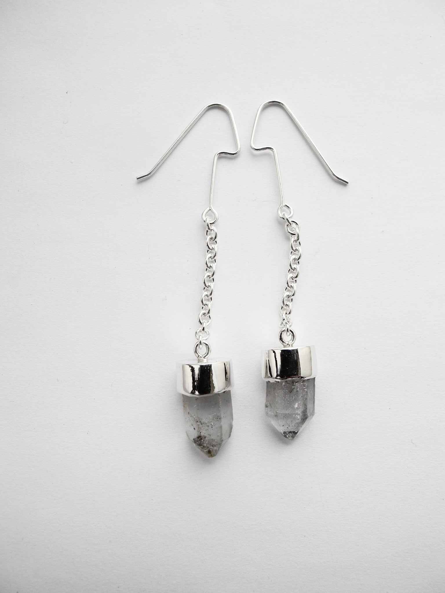 crystal pendulum earrings