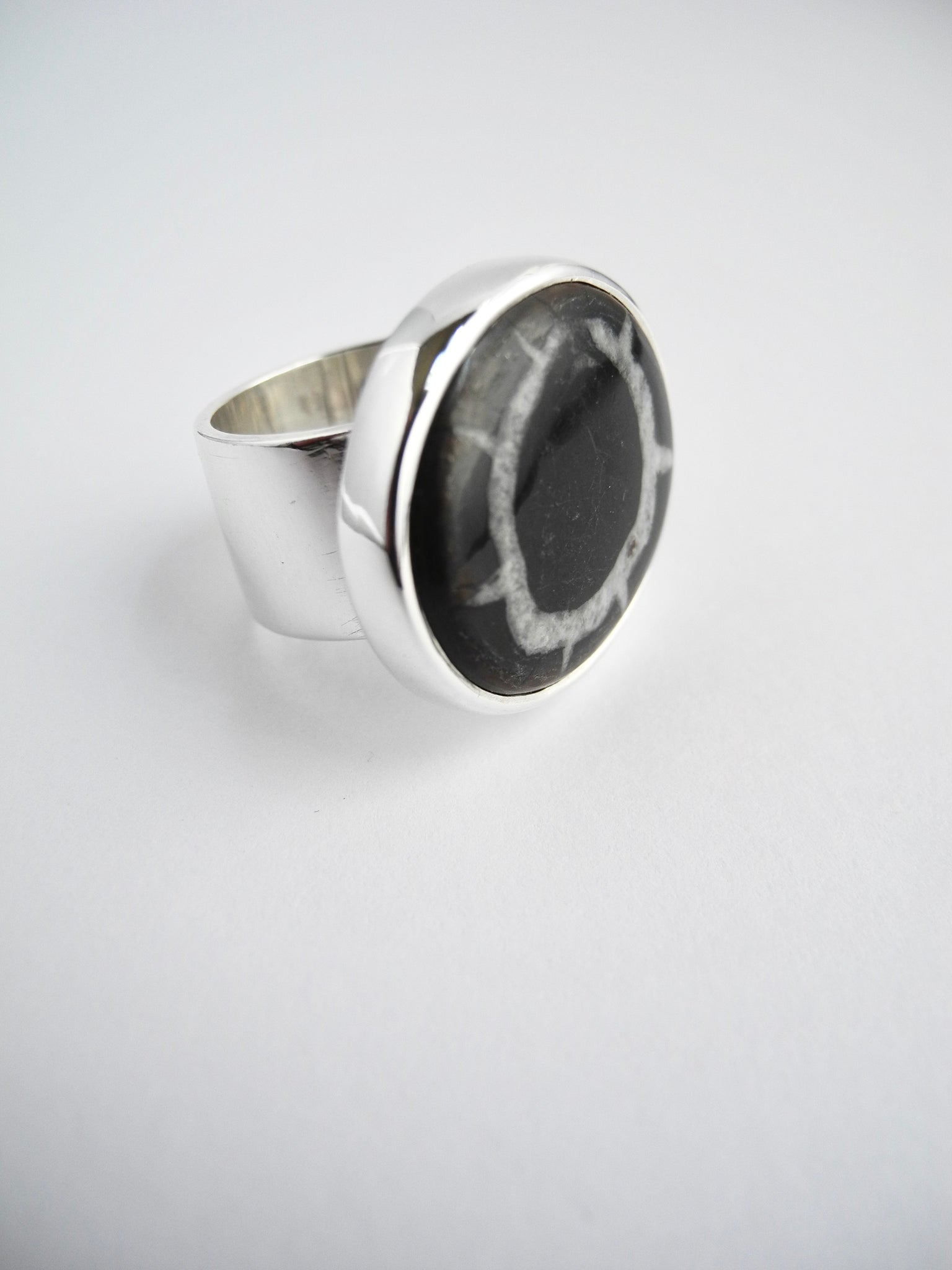 septarian stone ring